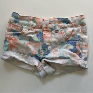 Levi's Tie Dye Denim Shorty Shorts Size 5-6